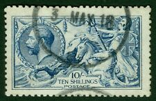 SG 411 10/- deep blue. Very fine used CDS example good colour and well centred..