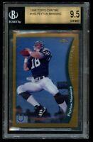 1998 Topps Chrome Peyton Manning Rookie BGS 9.5 Gem Mint RC #165 w 9 edges