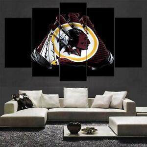 Washington Redskins 5PCS Canvas Prints Painting Wall Art Room Decor Fan's Gifts