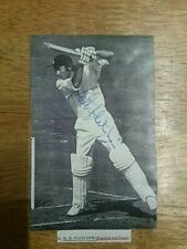 Keith Fletcher England Test Cricketer Signed Magazine Photo