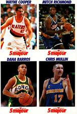 1992 5 Majeur Cards Uncut # NNO Cooper-Richmond-Barros-Mullin