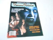 V11 #1 JAN 2002 FEMME FATALES magazine (UNREAD) J.R. BOOKWALTER
