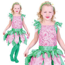 Childrens Kids Forest Fairy Tinkerbell Pixie Fancy Dress Costume Outfit Girls M