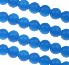 Blau Jade Perlen 4mm KUGEL 80stk HALBEDELSTEIN Schmuck Design BEST G288