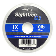 Airflo Sightfree G3 Fluorocarbon Tippet Fly Fishing Tippets 10lb