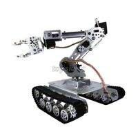 Shock Absorber RC Tank Car w/ WiFi 12V Motor 7-DOF Robot Arm Gripper Robot Kit