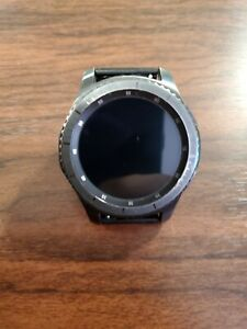 Samsung Gear S3 Frontier  Black Smart Watch - (SM-R760NDAAXAR) with charging pad
