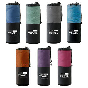 Microfiber Towel Sports Bath Gym Quick Drying Travel Swimming Camping Beach Y1
