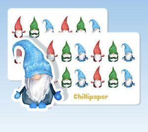 Christmas gnomes, Cute gonk planner stickers, Bullet journal, elf, deco #1171