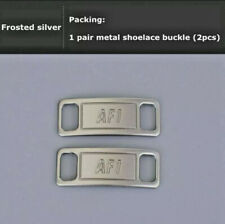 Nike Af1 Replacement Lace Tags Shoe badge Silver Air Force Ones Dubraes