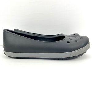 Crocs Crocband Airy Flat Slip On Women's Size 8 Shoes Black / Charcoal 14379