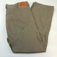 Levi's 505 Denim Jeans Mens 40X30 Tan Straight Leg Regular Fit 100% Cotton Wash