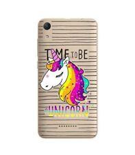 Case Lenny 4 Licorne Striped Unicorn Arc Sky Rainbow Star Transparent