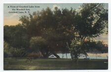 NY ~ Crooked Lake from Wendell Inn AVERILL PARK New York c1910 Rensselaer County