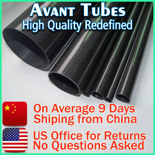 Glossy 12mm OD x 10mm ID x 1000mm 3K Roll Carbon Fiber Tube Rod Quadcopter Drone