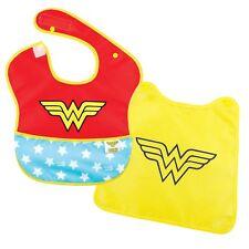 Bumkins DC Comics Wonder Woman SuperBib with Cape (6-24 Months) Baby Bib