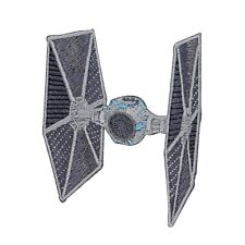 Star Wars TIE Fighter Patch Galactic Empire Starfighter Fan Iron-On Applique