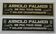 Arnold Palmer nameplate for signed golf ball photo or display case
