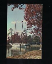 C 1960 Oyster Boat Bugeye Smithville New Jersey Postcard