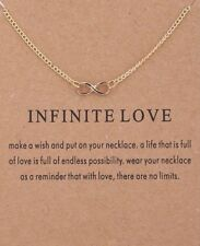 "Gold Dipped ""Infinite Love"" Infinity Symbol Carded Pendant Necklace"