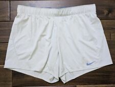 New Nike Light Blue Active Sport Training Shorts with Drawstring Womens Large