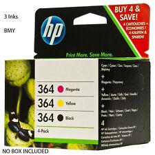 Set of 3 Original Genuine HP 364 Ink Cartridges for Photosmart 6520 7520 5520