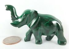 Malachite ELEPHANT (#08) - 83 grams - Solid Malachite - AAA Quality Carving!