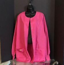 Landau Nursing medical scrub coat jacket top- XL pink