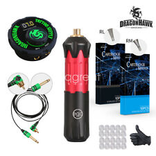 Dragonhawk EGO Motor Rotary Pen Tattoo Machine Tattoo Set Kit Top Power Supply