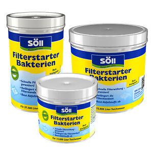 SÖLL Filterstarter Bakterien diverse Größen Filter Teichpflege Koi Teich Starter