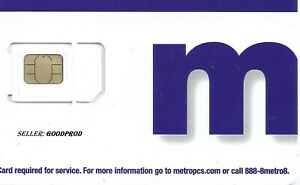 LOT of 10 MetroPCS/MetroByT-Mobile Triple Cut SIM Card