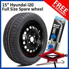 "HYUNDAI i20 2015-2018 FULL SIZE STEEL SPARE WHEEL 15""  TYRE 185/65R15 + Tool kit"