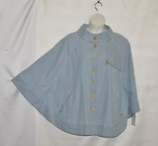Joan Rivers Button Front Denim Cape Size 1X Chambray