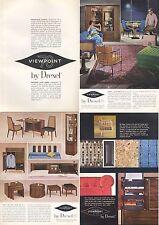 "1965 Drexel Vintage 60's Furniture Chair Desk 5-page ""mini-Catalog"" PRINT AD"