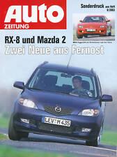 MAZDA rx-8 MAZDA 2 pressione speciale AZ 9/03 test 2003 auto relazione di prova Auto Sportiva Auto