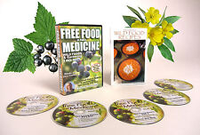 FREE FOOD AND MEDICINE   Wild Foods and Gardening 5 DVD set with recipe booklet