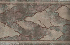 Metallic Patina Bronze Copper Marble Brown Vein Crack Abstract Wall paper Border