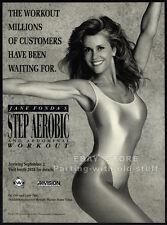 JANE FONDA's Step Aerobic__Original 1992 Trade print AD promo / advertisement