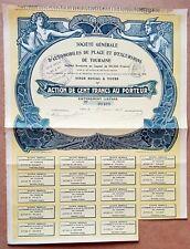 Dépt 37- Tours - Superbe Décor Art Nouveau d'une Ste de Tourisme Automobile 1908