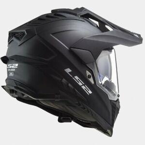 L Large LS2 MX701 Explorer Adventure Motorbike Helmet Matt Black
