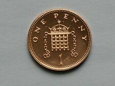 UK (Great Britain) 1988 1 PENNY (1p) Elizabeth II Coin From Proof Set - BU UNC