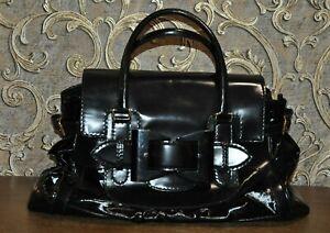 Authentic Gucci Black Leather Large Queen Satchel Handbag