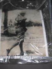Antique PHOTOGRAPH  Charles Chick Evans 1916 Autograph Signature  Western Golf