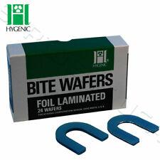 Hygenic U Shaped Bite Wafers Wax Light Blue Foil 24bx