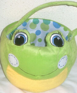 NEW LARGE PLUSH FROG EASTER TOY GIFT BASKET SUPPLIES EGG HUNT BIRTHDAY GIFT