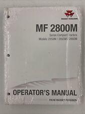 Massey Ferguson Mf 2800m Compact Tractor Operators Manual 2850m 2855m 2860m