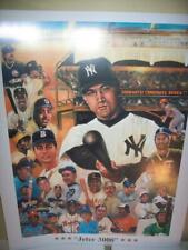 Derek Jeter New York Yankees & the 3,000 Hit Club Lithograph by Robert Simon