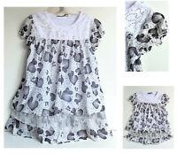 Kinder Mädchen Bluse Gr. 140 Sommershirt Tunika T-shirt