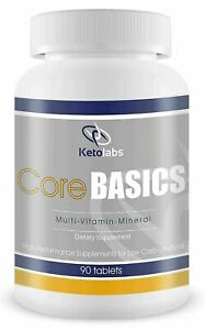 Ketolabs Core Basics Daily Multivitamin for Low Carb Diet 90 Tablets EXP 08/19