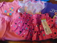 #33) Lot of 7 New pcs Infant 3 Months Baby Girl Clothing Pants Tops Outfits
